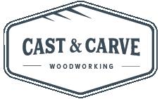 Cast & Carve – Woodworking Logo