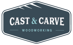 Cast & Carve – Woodworking Logo